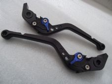 Aprilia RSV MILLE/R (04-08), CNC levers long black/blue adjusters, F11/H11